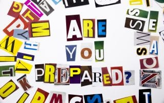 A word writing text showing concept of Are You Prepared question made of different magazine newspaper letter for Business case on the white background with space