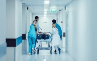 doctors and nurses respond to emergency code blue
